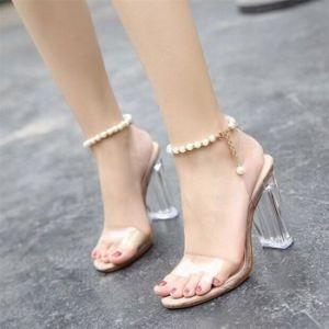 10 mẫu Giày cao gót quai trong suốt đẹp nhất 2019